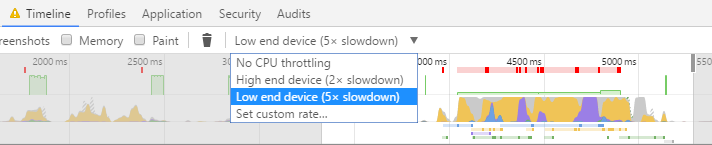 Chrome Canary CPU Throttling Tool