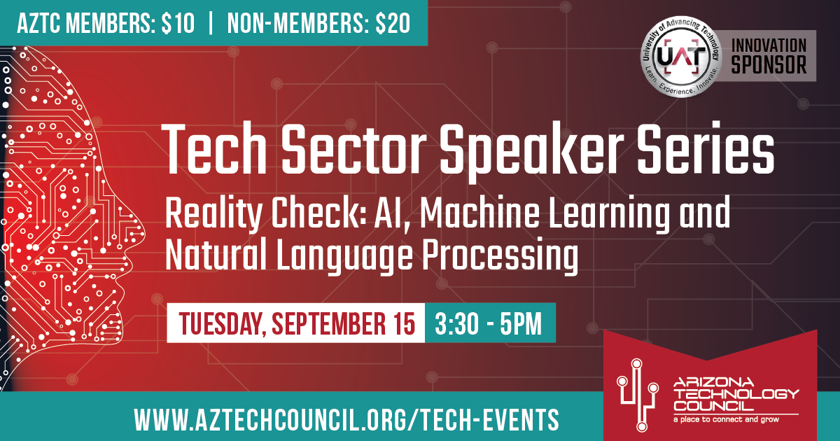 Tech Sector Speaker Series - Reality Check: AI, Machine Learning and Natural Language Processing